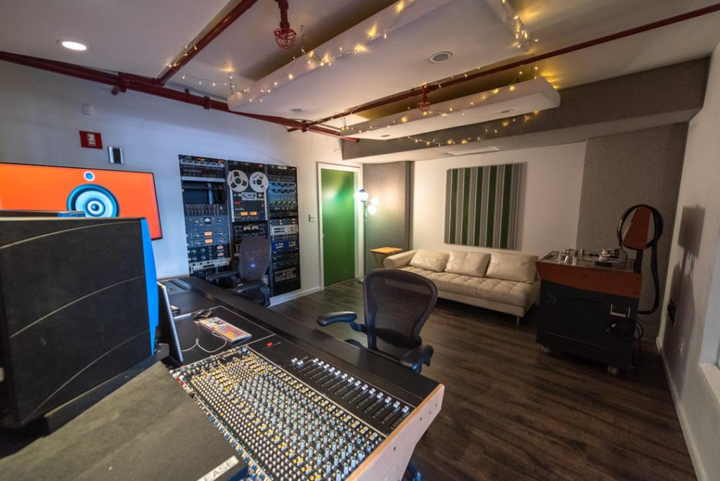 The Ice Plant Recording Studio Control Room API 1608