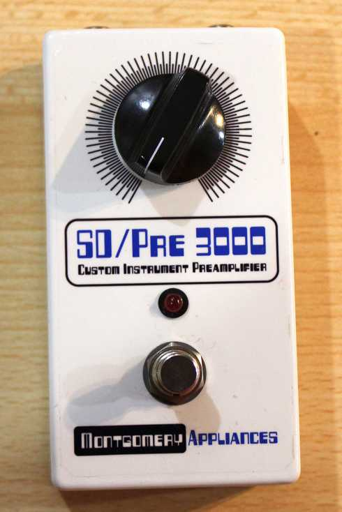 Montgomery Appliance SD/Pre 3000 Custom Instrument Preamplifier