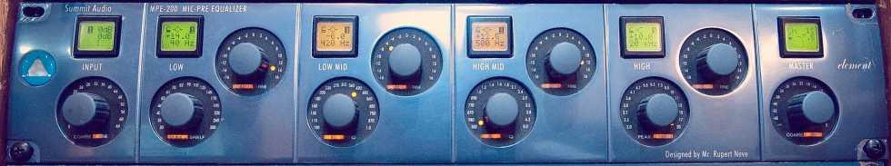 SUMMIT AUDIO MPE-200 Mic-Pre/Equalizer